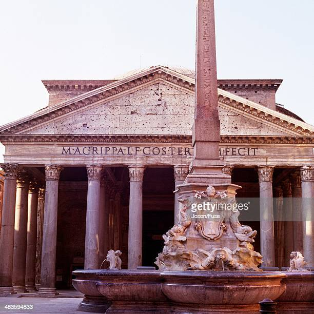 Fountain in front of Pantheon, Italy, Rome