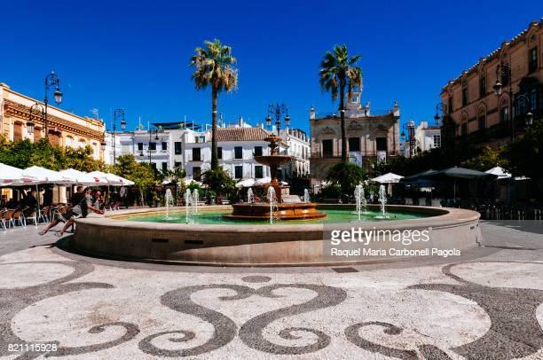 BARRAMEDA CADIZ ANDALUCíA SPAIN Fountain in 'Plaza del Cabildo' Goverment square