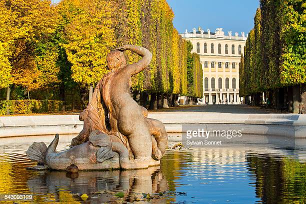 Fountain in Schonbrunn Palace