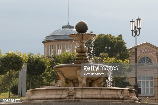 Fountain in the morning sun in Pyatigorsk, Russia : Stockfoto