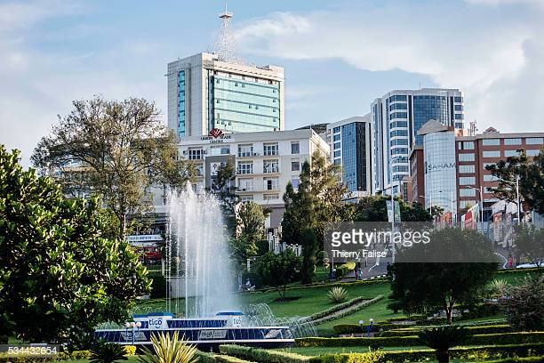 A fountain lies at the bottom of Kigali's business district Kigali with a population of more than one million is Rwandas capital and main city The...