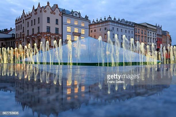 Fountain, Main Market Square, Krakow, Poland