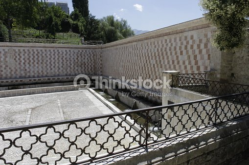 Fountain Of 99 Cannelle At Borgo Rivera Stock Photo