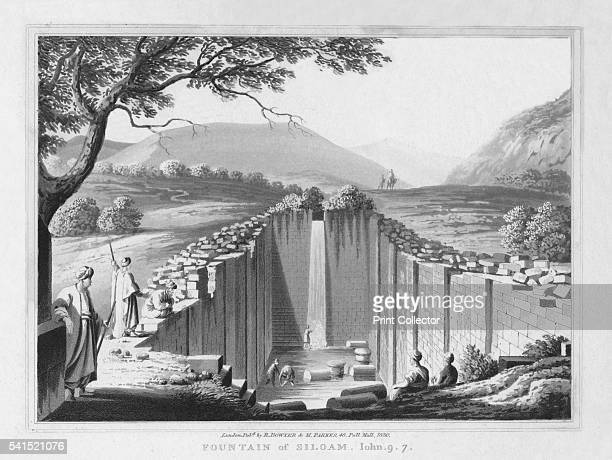 Fountain of Siloam John 97' 1830 From A Series of twentyfour Views illustrative of the Holy Scriptures Views from Sir Robert Ainslie's celebrated...