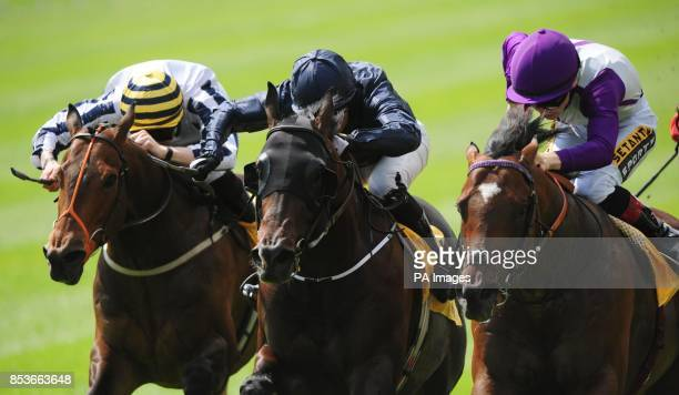 Fountain of Youth ridden by Seamus Heffernan wins The Dubai Duty Free Sapphire Stakes during day two the Dubai Duty Free Irish Derby Festival at...