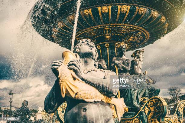 Fountain on the Place de la Concorde in Paris