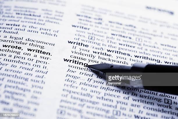 Schreiben Wort und fountain pen