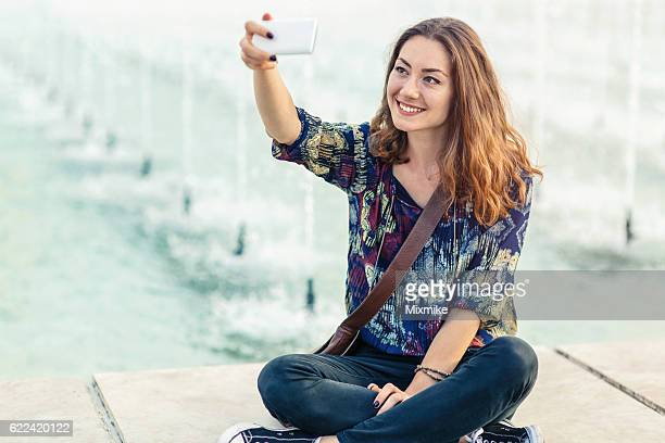Fountain selfie