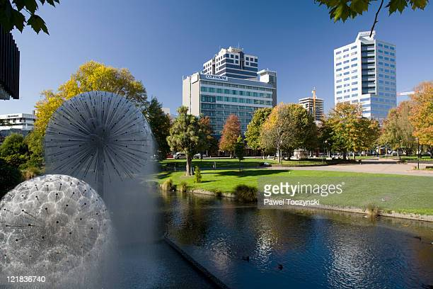 Fountains, Christchurch, South Island, New Zealand.