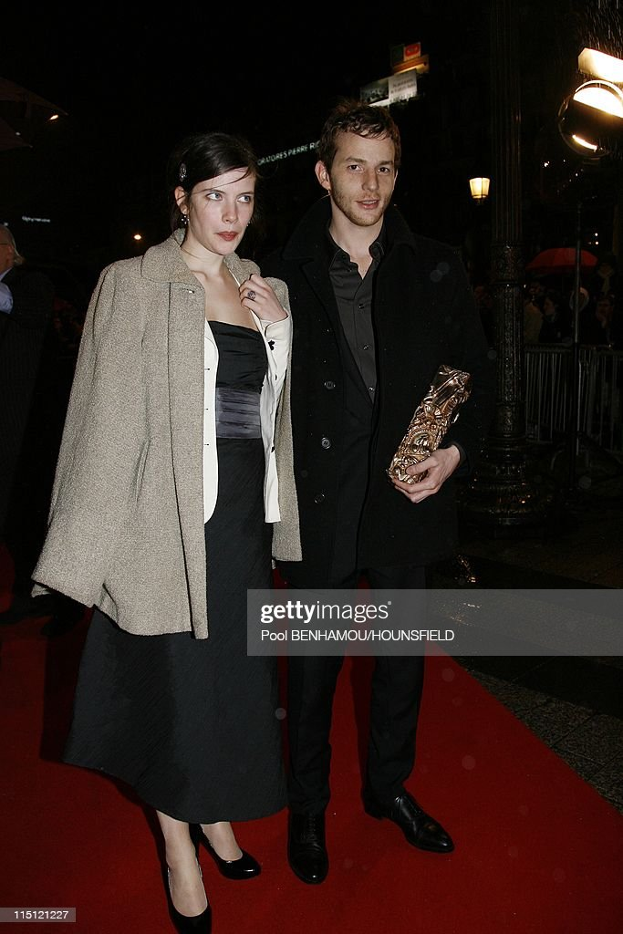 Fouquet's party following 32nd Cesar ceremony in Paris France on February 24 2007 Malik Zidi and his girlfriend