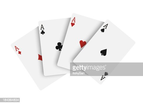Four aces, playing cards