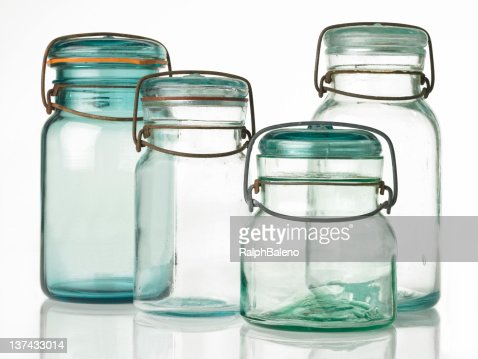 Four Antique Canning Jars