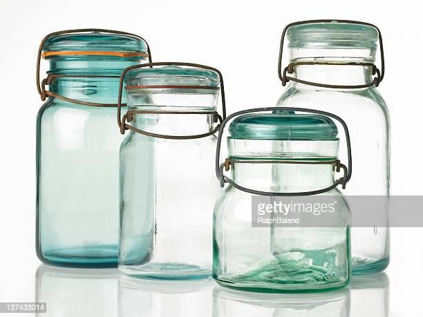 Four Antique Canning Jars