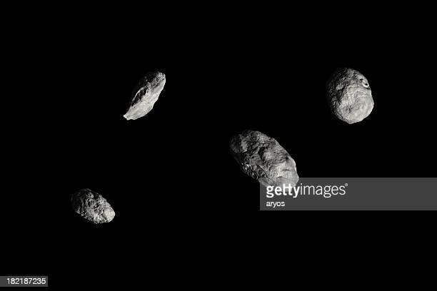 Four Asteroids - HiRes black