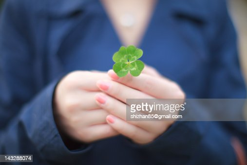Four beautiful leaves of clover