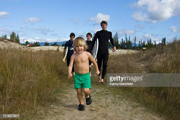 Four Boys going to surf