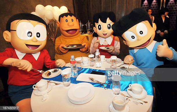 Four cartoon characters in Japan's popular manga strips which was created in 1969 and featured a robot cat from the future called Doraemon are...