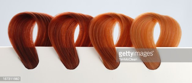 Hair Dye Color Swatches Reds Tones Stock Photo | Getty Images