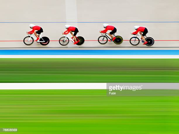 Four Cyclists on Velodrome