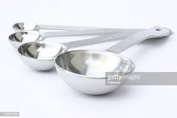 Four different sizes measuring spoons