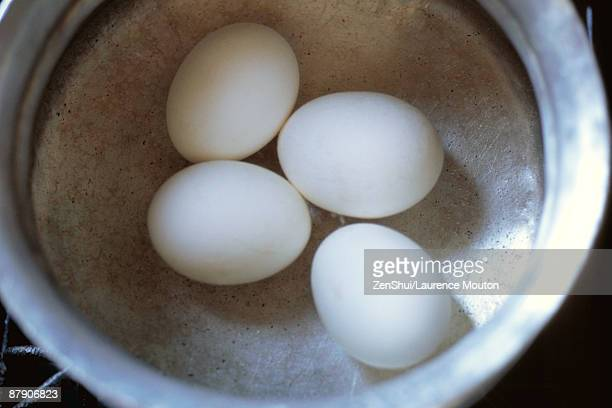 Four eggs in a bowl