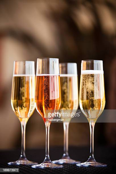 Four Flutes of Champagne