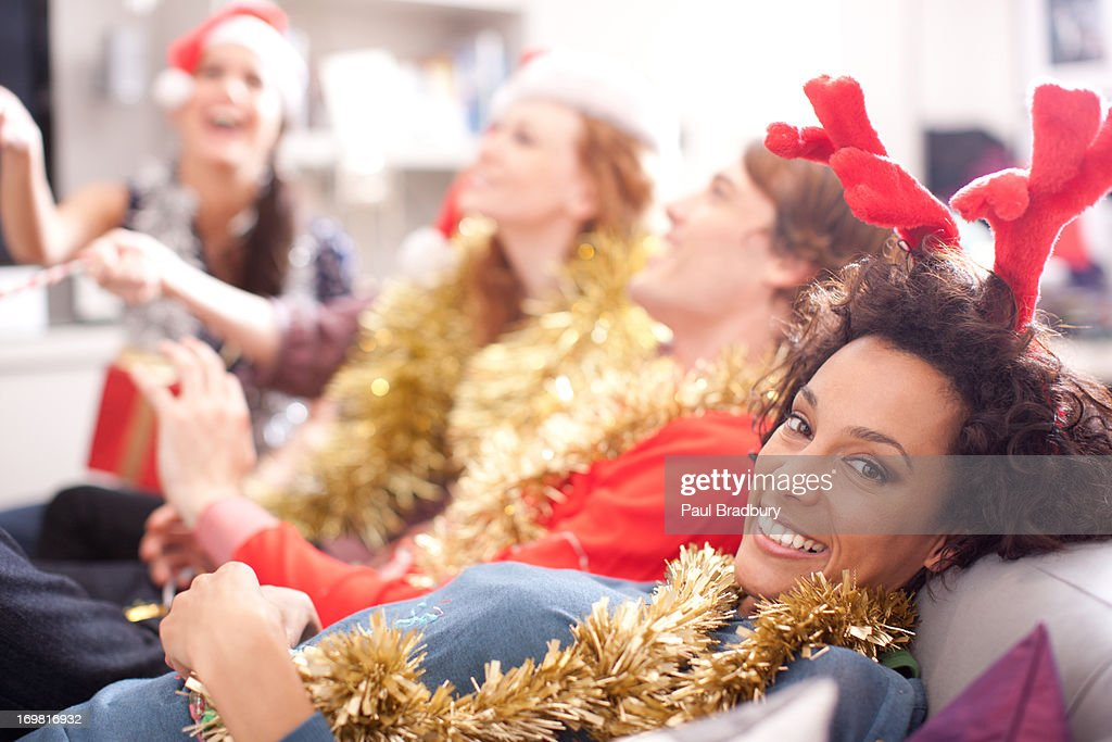 Four friends laughing : Stock Photo