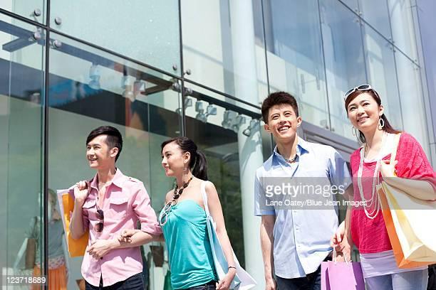 Four Friends Shopping