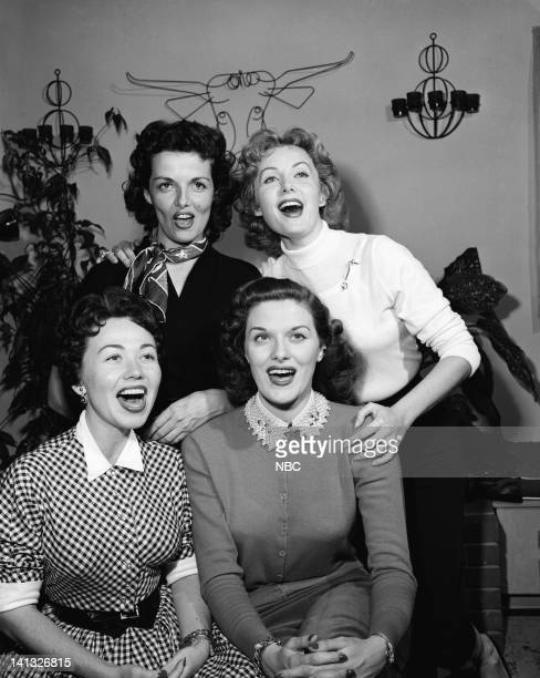 HOUR 'Four Girls' Episode 28 Air Date Pictured Actress Jane Russell actress Rhonda Fleming singer Connie Haines singer Beryl Davis Photo by Herb...
