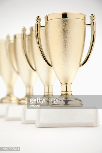 Four gold trophies in a row