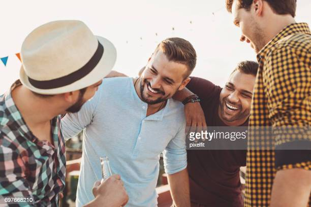 Four guys having fun