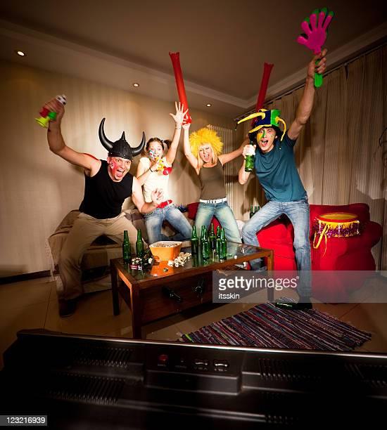 Four happy fans