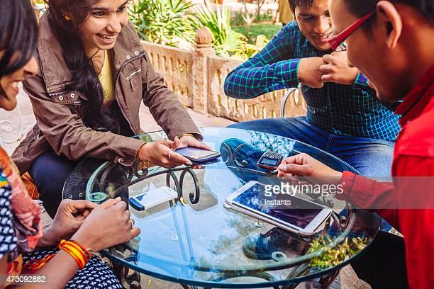 Vier indische Studenten