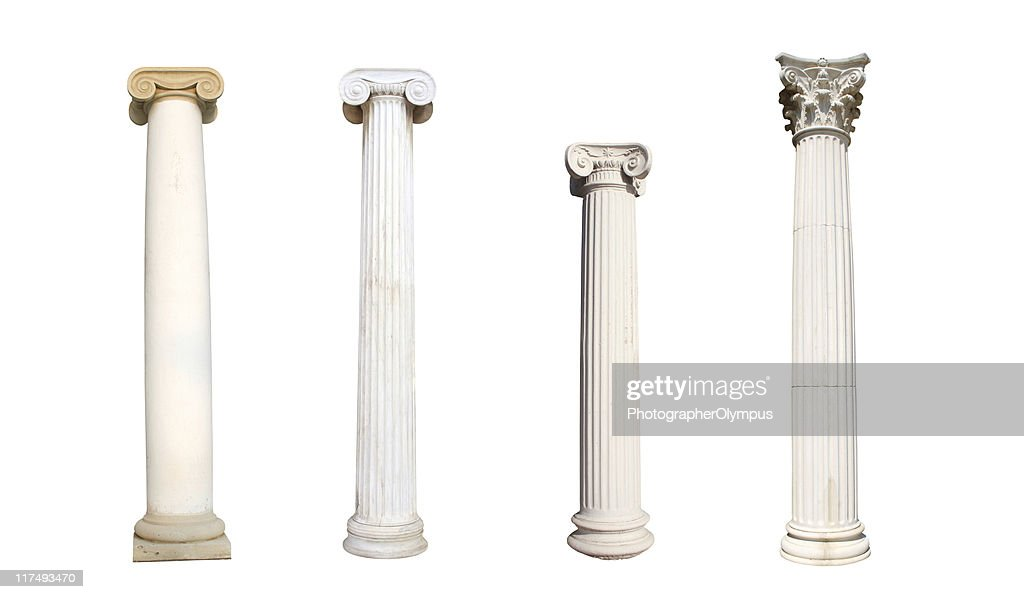 Four isolated columns