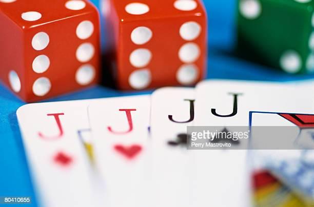 Four jacks by dice