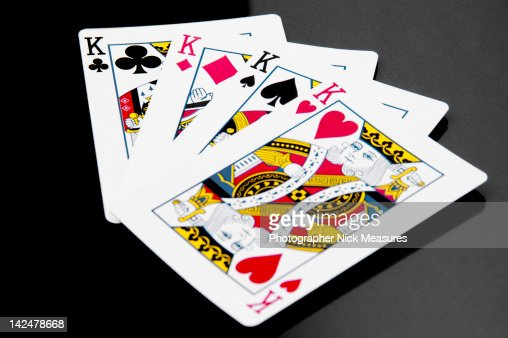 Four king playing cards : Stock Photo