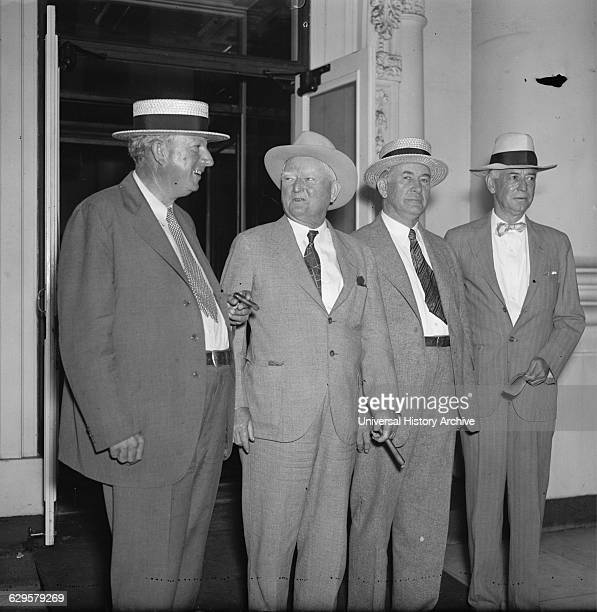 Four leading politicians from the Democratic Party were invited today to a conference given by President Roosevelt Although denials were made it was...