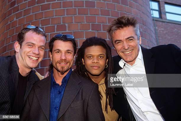 Four male singers from the musical 'Notre Dame de Paris' Garou Bruno Pelletier Lick Mervil and Daniel Lavoie