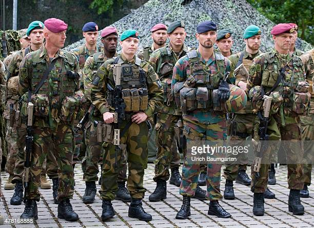 Four ministerial meeting at the 1th GermanNetherlands Corps in Muenster Soldiers