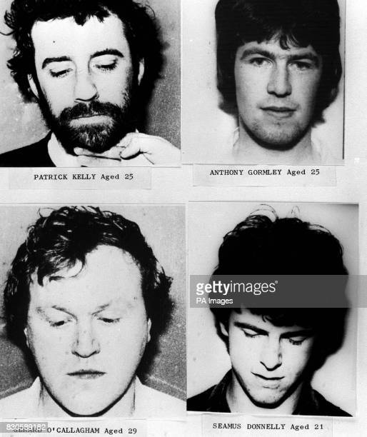 Four of the IRA gunmen who died in a shootout with security forces outside the RUC station in the village of Loughall County Armagh Clockwise from...