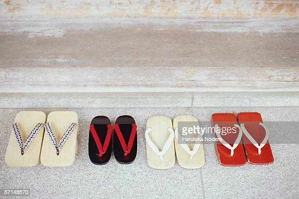 Four pairs of Japanese sandals