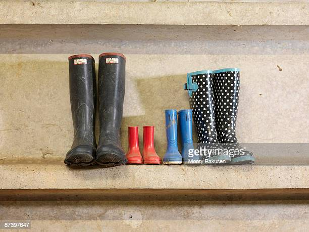 Four Pairs Of Wellington Boots