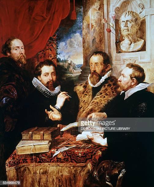 Four philosophers 16111612 by Peter Paul Rubens oil on panel 164x139 cm Belgium 17th century Florence Palazzo Pitti Galleria Palatina
