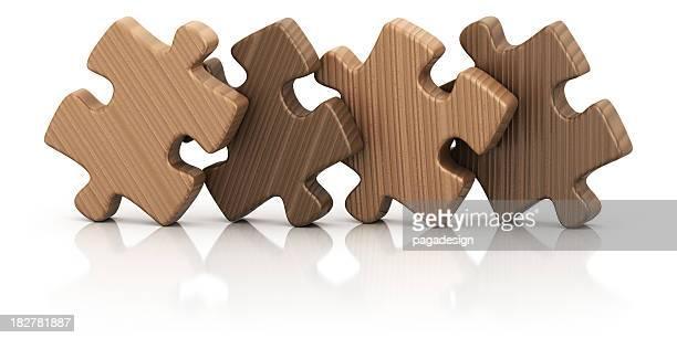 Vier puzzles