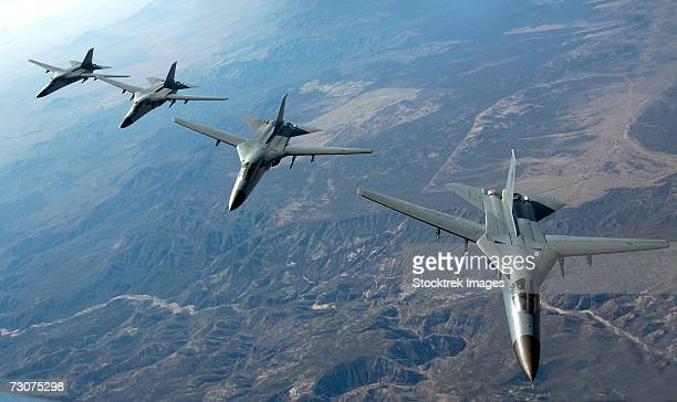 Four Royal Australian Air Force F-111 aircraft head out to the ranges on Nellis Air Force Base, Nev., February 14, 2006, during Red Flag 06-1.