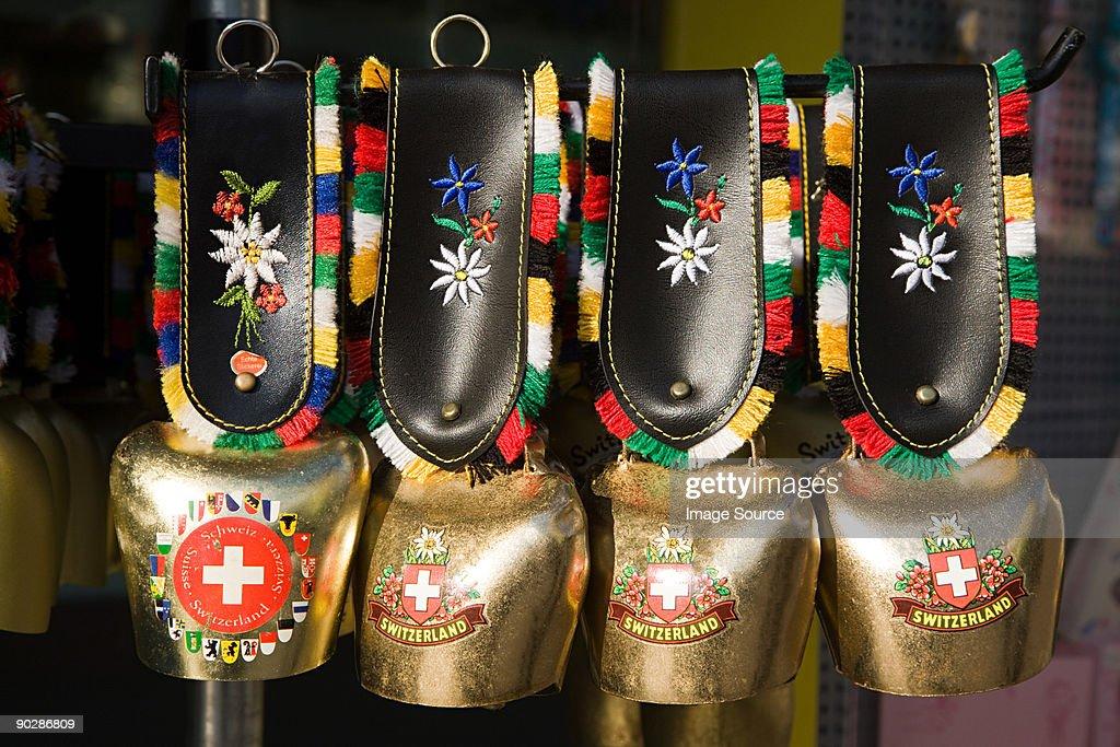 Four swiss cow bells