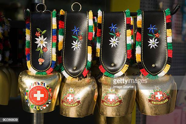 Four swiss cow bells