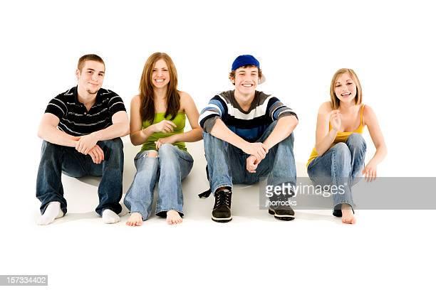Quattro amici adolescenti