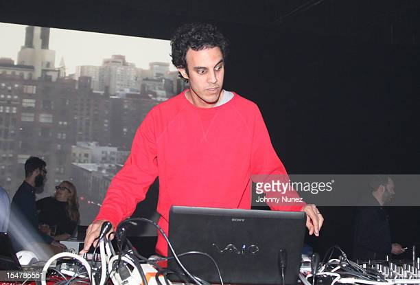 Four Tet spins at Microsoft's Microtropolis at Pier 57 on October 25 2012 in New York City