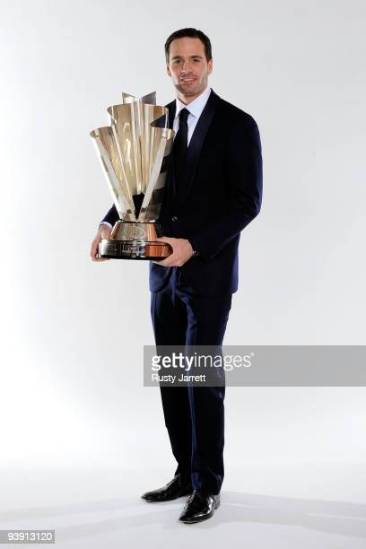Four time NASCAR Sprint Cup Series Champion Jimmie Johnson poses before the NASCAR Sprint Cup Series awards banquet during the final day of the...